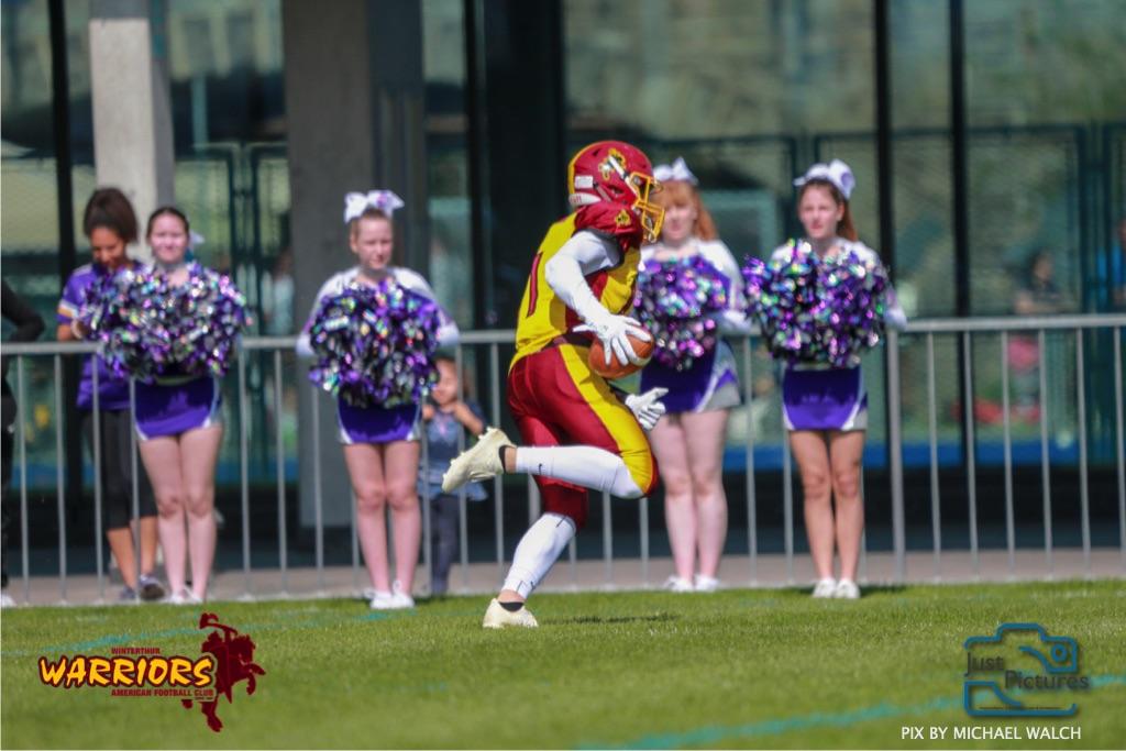 ,beim US-Sports spiel der American Football - U19 zwischen dem Basel Gladiators und dem Winterthur Warriors, on Sunday,  31. March 2019 im Stadion Rankhof in Basel. (Just Pictures/Michael Walch) Bild-Id: WAM_55798