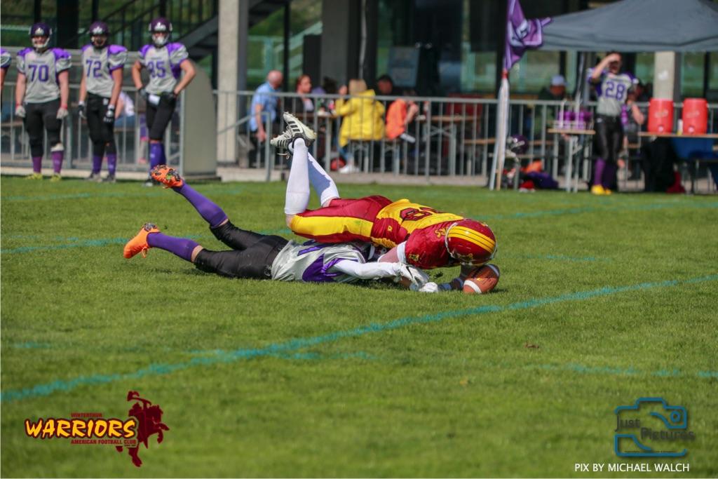 ,beim US-Sports spiel der American Football - U19 zwischen dem Basel Gladiators und dem Winterthur Warriors, on Sunday,  31. March 2019 im Stadion Rankhof in Basel. (Just Pictures /Michael Walch)Bild-Id: WAM_55815