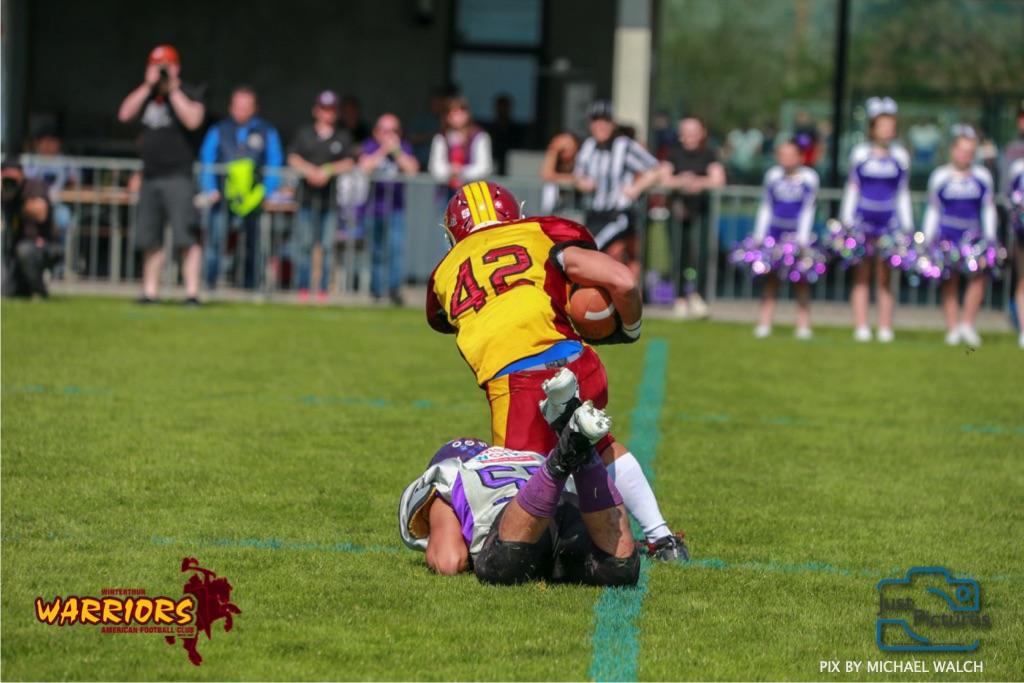 ,beim US-Sports spiel der American Football - U19 zwischen dem Basel Gladiators und dem Winterthur Warriors, on Sunday,  31. March 2019 im Stadion Rankhof in Basel. (Just Pictures/Michael Walch)Bild-Id: WAM_55837