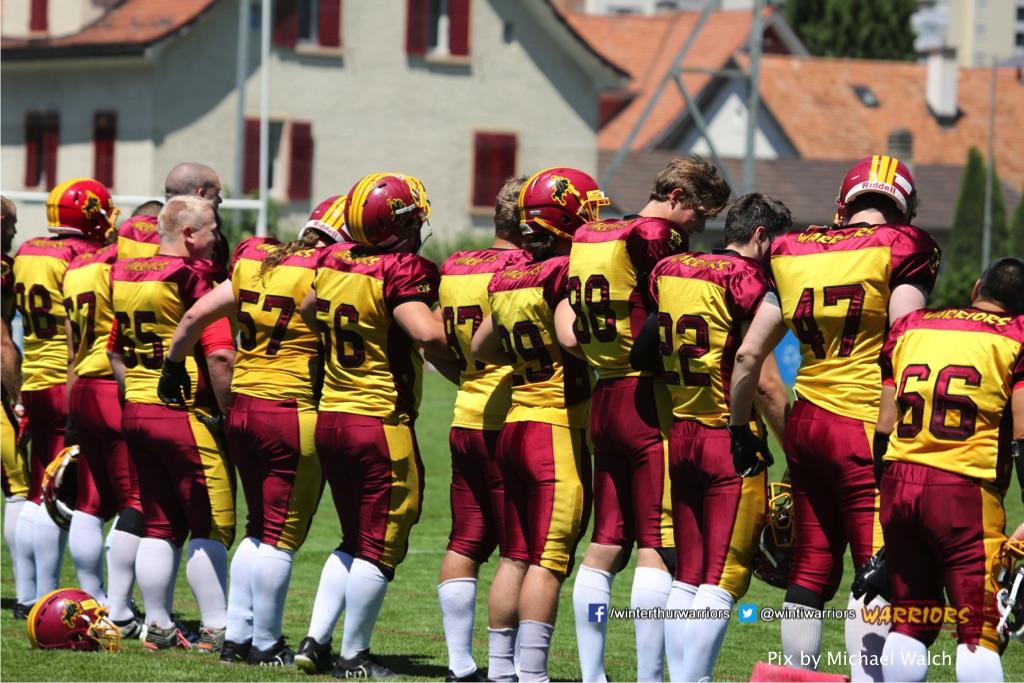 ,beim American Football Spiel zwischen den Calanda Broncos und den Winterthur Warriors , am Sonntag dem, 18. Juni 2017 auf dem Sportplatz Ringstrasse in Chur. (TOPpictures/Michael Walch)Bild-Id: WAM_00002