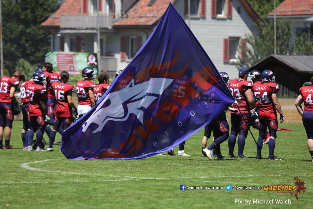 ,beim American Football Spiel zwischen den Calanda Broncos und den Winterthur Warriors , am Sonntag dem, 18. Juni 2017 auf dem Sportplatz Ringstrasse in Chur. (TOPpictures/Michael Walch)Bild-Id: WAM_00006