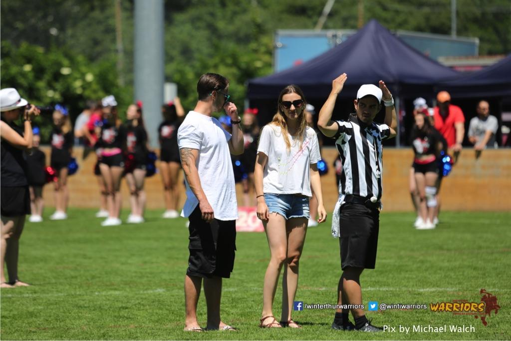 ,beim American Football Spiel zwischen den Calanda Broncos und den Winterthur Warriors , am Sonntag dem, 18. Juni 2017 auf dem Sportplatz Ringstrasse in Chur. (TOPpictures/Michael Walch)Bild-Id: WAM_00009