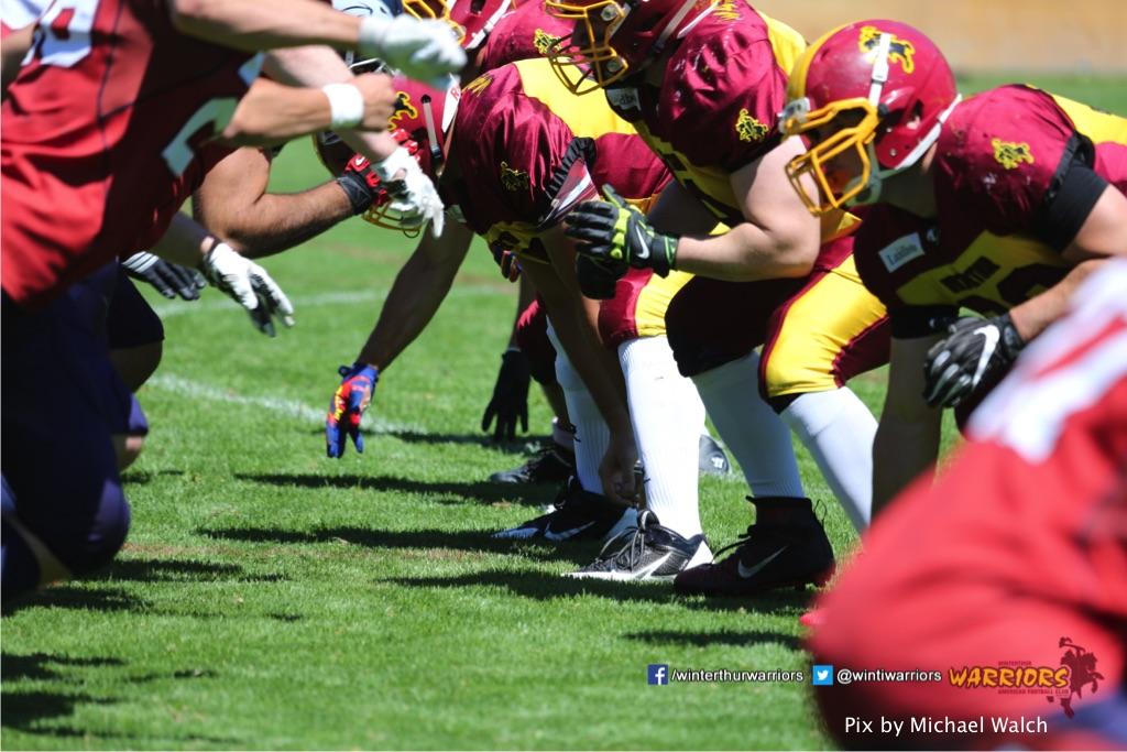,beim American Football Spiel zwischen den Calanda Broncos und den Winterthur Warriors , am Sonntag dem, 18. Juni 2017 auf dem Sportplatz Ringstrasse in Chur. (TOPpictures/Michael Walch)Bild-Id: WAM_00050