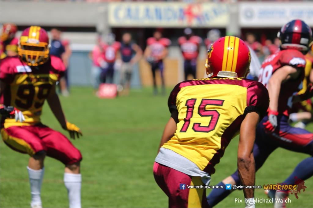 ,beim American Football Spiel zwischen den Calanda Broncos und den Winterthur Warriors , am Sonntag dem, 18. Juni 2017 auf dem Sportplatz Ringstrasse in Chur. (TOPpictures/Michael Walch)  Bild-Id: WAM_00089