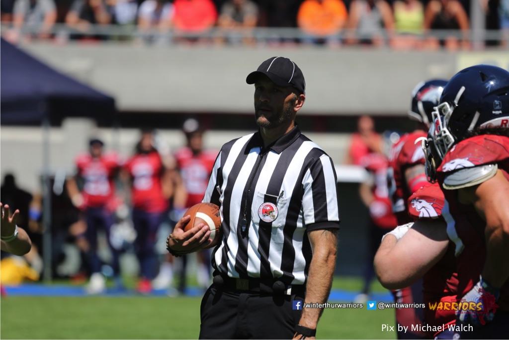 ,beim American Football Spiel zwischen den Calanda Broncos und den Winterthur Warriors , am Sonntag dem, 18. Juni 2017 auf dem Sportplatz Ringstrasse in Chur. (TOPpictures/Michael Walch)  Bild-Id: WAM_00099