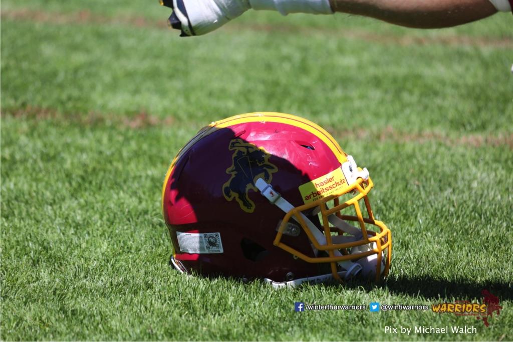 ,beim American Football Spiel zwischen den Calanda Broncos und den Winterthur Warriors , am Sonntag dem, 18. Juni 2017 auf dem Sportplatz Ringstrasse in Chur. (TOPpictures/Michael Walch)  Bild-Id: WAM_00144