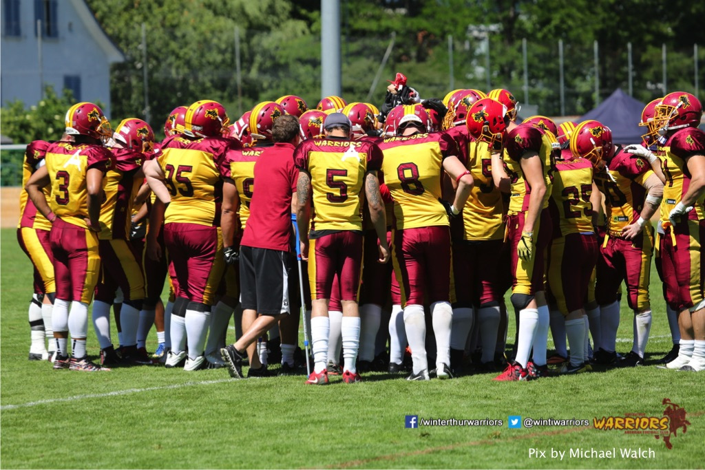 ,beim American Football Spiel zwischen den Calanda Broncos und den Winterthur Warriors , am Sonntag dem, 18. Juni 2017 auf dem Sportplatz Ringstrasse in Chur. (TOPpictures/Michael Walch)  Bild-Id: WAM_00149