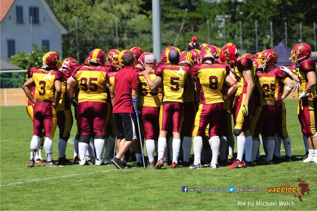 ,beim American Football Spiel zwischen den Calanda Broncos und den Winterthur Warriors , am Sonntag dem, 18. Juni 2017 auf dem Sportplatz Ringstrasse in Chur. (TOPpictures/Michael Walch)  Bild-Id: WAM_00150
