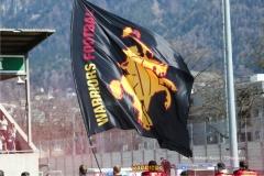 Beim US-Sports spiel der American Football - NLA zwischen dem Calanda Broncos und dem Winterthur Warriors, on Sunday,  25. March 2018 im Stadion Ringstrasse in Chur. (TOPpictures/Michael Walch)  Bild-Id: WAM_34689
