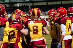 Beim US-Sports spiel der American Football - NLA zwischen dem Calanda Broncos und dem Winterthur Warriors, on Sunday,  25. March 2018 im Stadion Ringstrasse in Chur. (TOPpictures/Michael Walch)  Bild-Id: WAM_34722