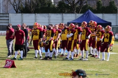 Beim US-Sports spiel der American Football - NLA zwischen dem Calanda Broncos und dem Winterthur Warriors, on Sunday,  25. March 2018 im Stadion Ringstrasse in Chur. (TOPpictures/Michael Walch)  Bild-Id: WAM_34840