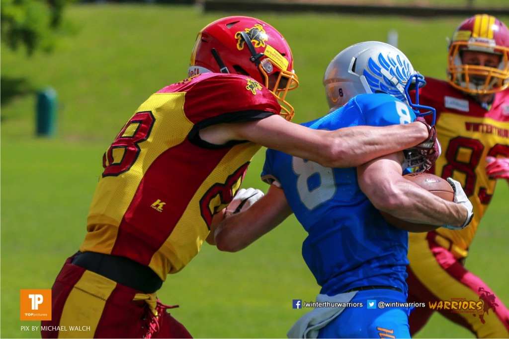 Beim US-Sports spiel der American Football - NLA zwischen dem Geneva Seahawks und dem Winterthur Warriors, on Sunday,  27. May 2018 im Centre Sportif de Vessy in Genève. (TOPpictures/Michael Walch)  Bild-Id: WAM_42593