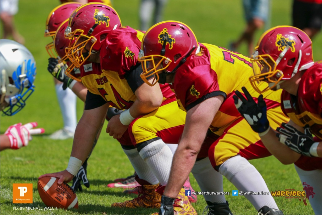 Beim US-Sports spiel der American Football - NLA zwischen dem Geneva Seahawks und dem Winterthur Warriors, on Sunday,  27. May 2018 im Centre Sportif de Vessy in Genève. (TOPpictures/Michael Walch)  Bild-Id: WAM_42599