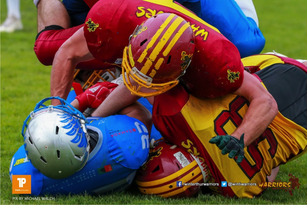 Beim US-Sports spiel der American Football - NLA zwischen dem Geneva Seahawks und dem Winterthur Warriors, on Sunday,  27. May 2018 im Centre Sportif de Vessy in Genève. (TOPpictures/Michael Walch)  Bild-Id: WAM_42724