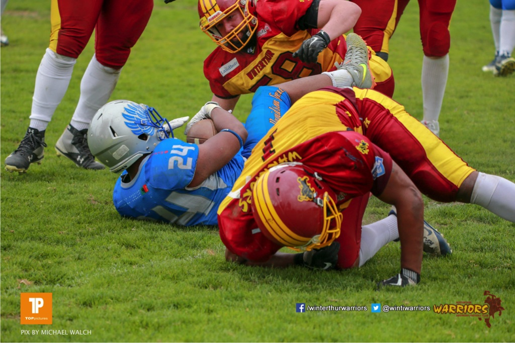 Beim US-Sports spiel der American Football - NLA zwischen dem Geneva Seahawks und dem Winterthur Warriors, on Sunday,  27. May 2018 im Centre Sportif de Vessy in Genève. (TOPpictures/Michael Walch)  Bild-Id: WAM_42728