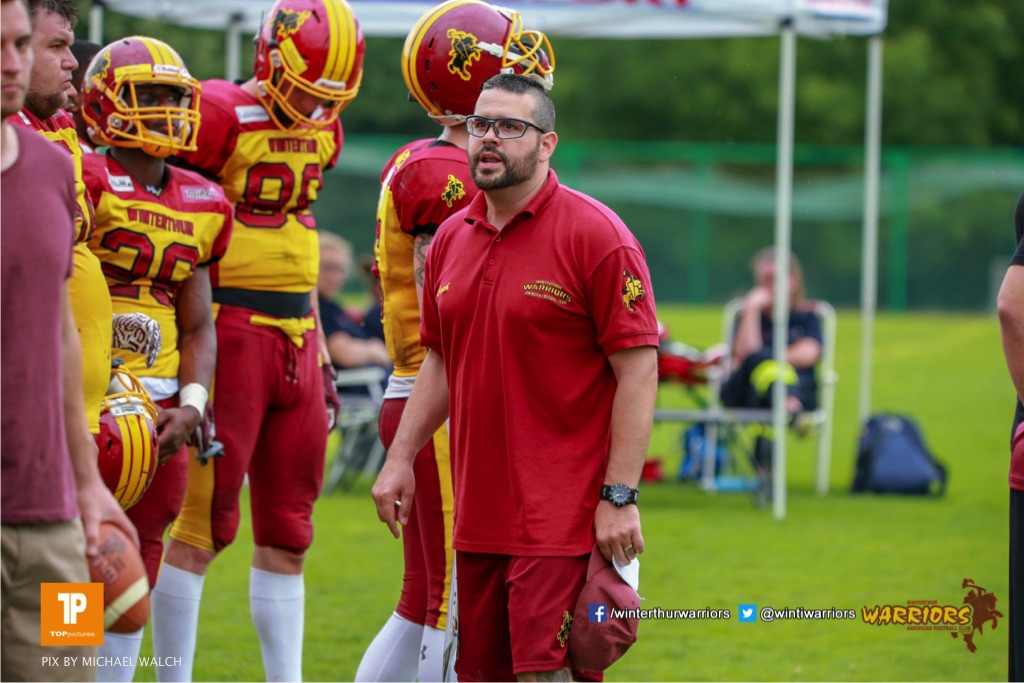 Beim US-Sports spiel der American Football - NLA zwischen dem Geneva Seahawks und dem Winterthur Warriors, on Sunday,  27. May 2018 im Centre Sportif de Vessy in Genève. (TOPpictures/Michael Walch)  Bild-Id: WAM_42736