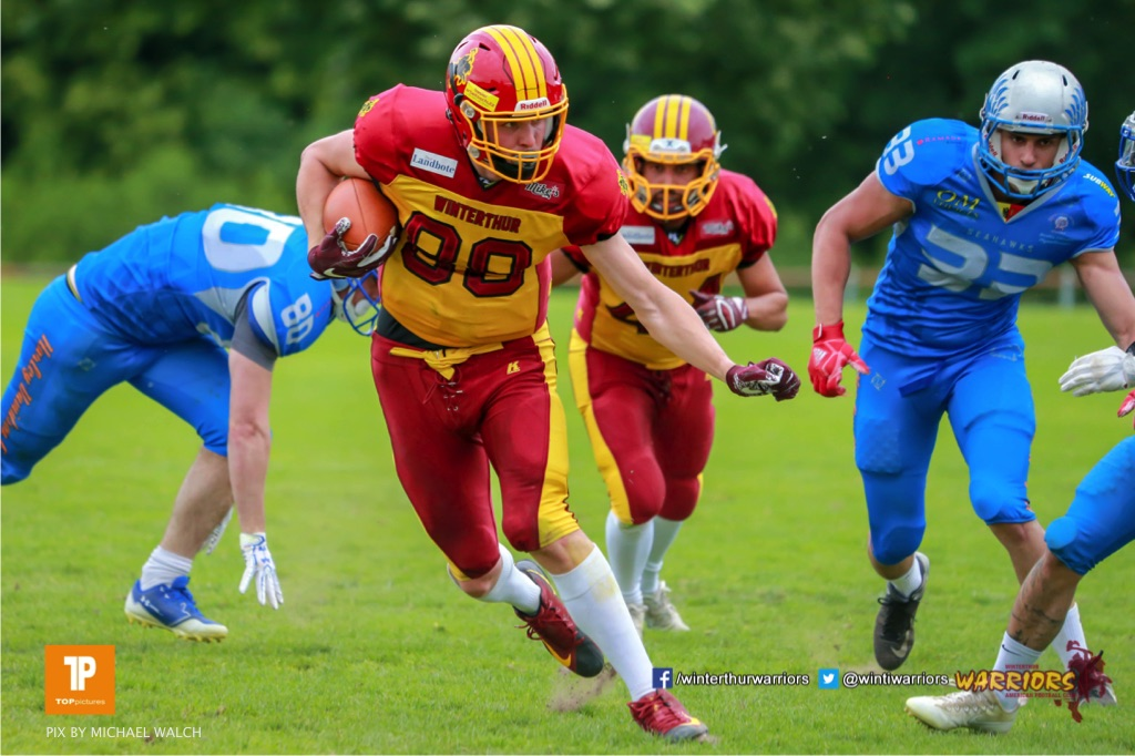 Beim US-Sports spiel der American Football - NLA zwischen dem Geneva Seahawks und dem Winterthur Warriors, on Sunday,  27. May 2018 im Centre Sportif de Vessy in Genève. (TOPpictures/Michael Walch)  Bild-Id: WAM_42744