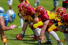 Beim US-Sports spiel der American Football - NLA zwischen dem Geneva Seahawks und dem Winterthur Warriors, on Sunday,  27. May 2018 im Centre Sportif de Vessy in Genève. (TOPpictures/Michael Walch)  Bild-Id: WAM_42599