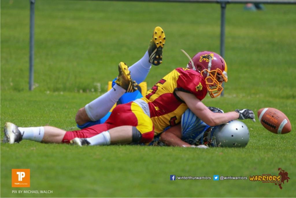 Beim US-Sports spiel der American Football - U19 zwischen dem Geneva Seahawks und dem Winterthur Warriors U19, on Sunday,  27. May 2018 im Centre Sportif de Vessy in Genève. (TOPpictures/Michael Walch)  Bild-Id: WAM_42532