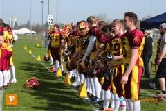 Beim US-Sports spiel der American Football  zwischen dem Luzern Lions und dem Winterthur Warriors (U19), on Sunday,  08. April 2018 auf der Allmend Süd in Luzern. (TOPpictures/Michael Walch)Bild-Id: WAM_35279