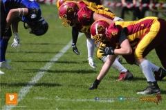 Beim US-Sports spiel der American Football  zwischen dem Luzern Lions und dem Winterthur Warriors (U19), on Sunday,  08. April 2018 auf der Allmend Süd in Luzern. (TOPpictures/Michael Walch)Bild-Id: WAM_35409