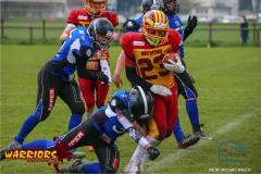 Max Mayer  (Winterthur)14.04,2019  American Football ,Herren NLA Schweiz 2018  Winterthur Warriors - Luzern Lions. (Just Pictures/Michael Walch / Just Pictures)