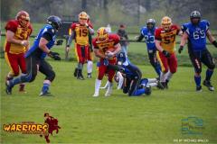 David Bruengger  (Winterthur)14.04,2019  American Football ,Herren NLA Schweiz 2018  Winterthur Warriors - Luzern Lions. (Just Pictures/Michael Walch / Just Pictures)