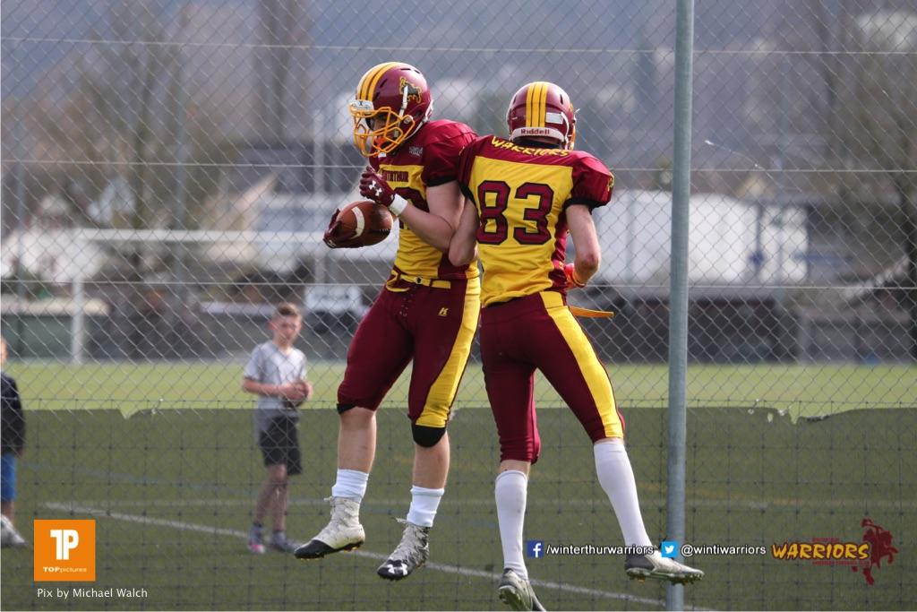 Beim US-Sports spiel der American Football  zwischen dem Luzern Lions und dem Winterthur Warriors, on Sunday,  08. April 2018 auf der Allmend Süd in Luzern. (TOPpictures/Michael Walch)Bild-Id: WAM_35718