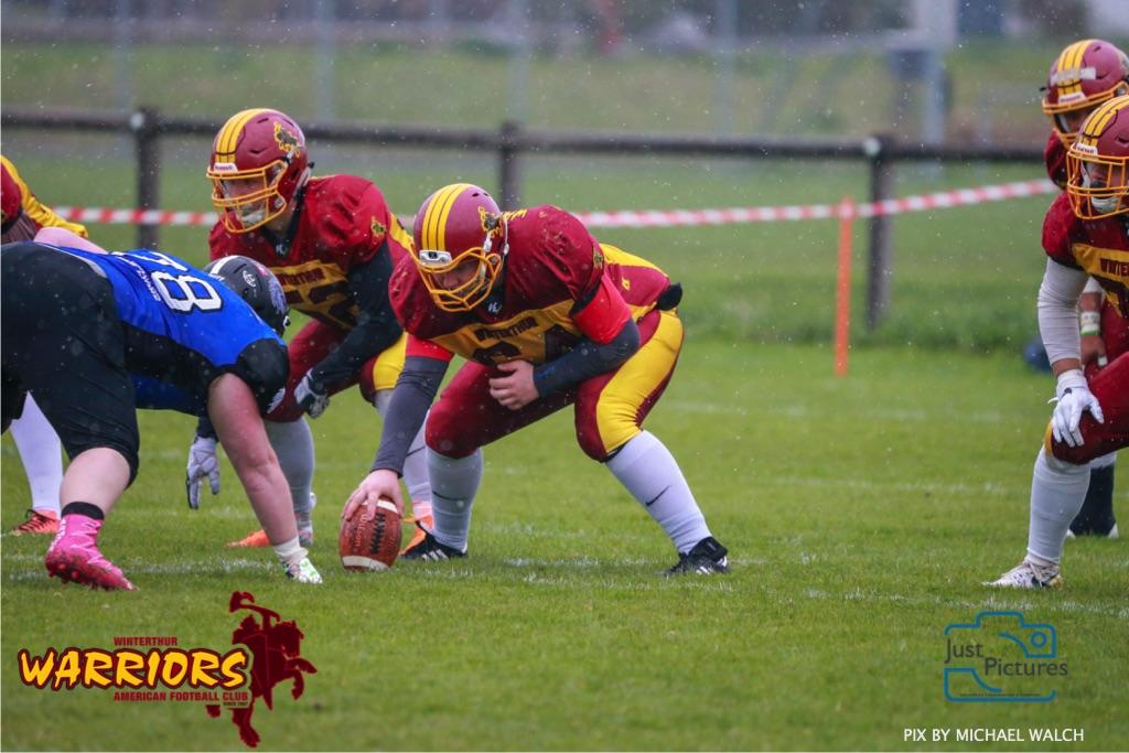 Beim US-Sports spiel der American Football U 19 zwischen dem Luzern Lions und dem Winterthur Warriors, on Sunday,  14. April 2019 auf der Allmend  in Luzern. (Just Pictures/Michael Walch) Bild-Id: WAM_56426