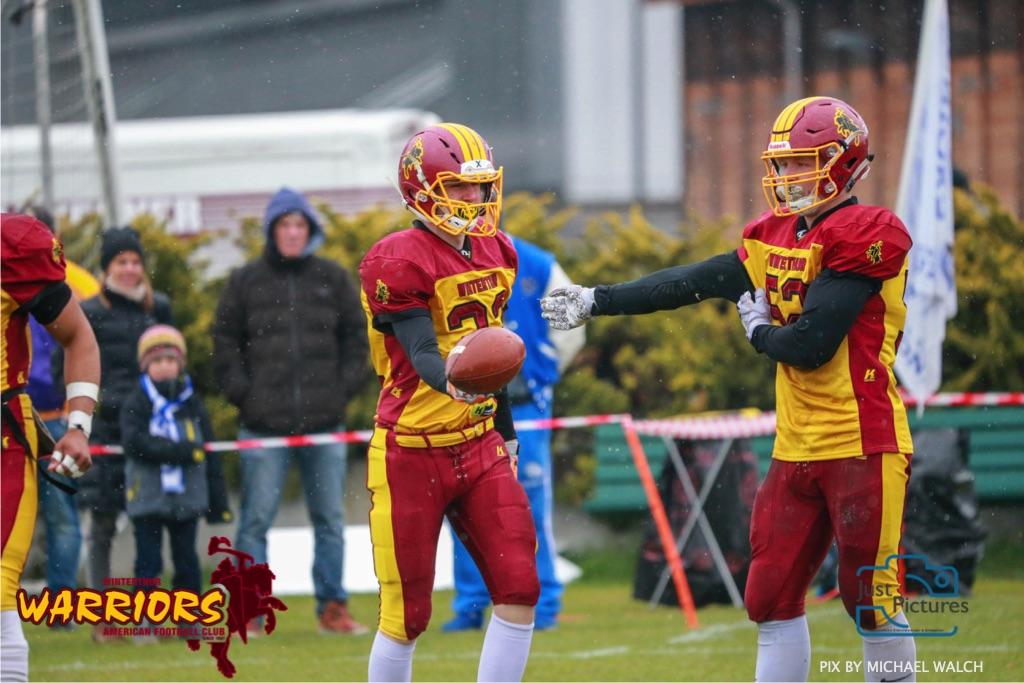 Beim US-Sports spiel der American Football U 19 zwischen dem Luzern Lions und dem Winterthur Warriors, on Sunday,  14. April 2019 auf der Allmend  in Luzern. (Just Pictures/Michael Walch) Bild-Id: WAM_56428
