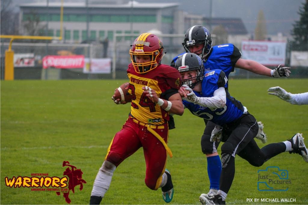 Beim US-Sports spiel der American Football U 19 zwischen dem Luzern Lions und dem Winterthur Warriors, on Sunday,  14. April 2019 auf der Allmend  in Luzern. (Just Pictures/Michael Walch) Bild-Id: WAM_56489
