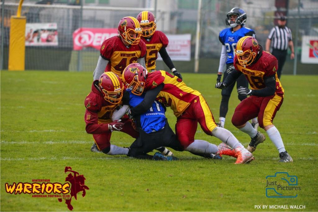 Beim US-Sports spiel der American Football U 19 zwischen dem Luzern Lions und dem Winterthur Warriors, on Sunday,  14. April 2019 auf der Allmend  in Luzern. (Just Pictures/Michael Walch) Bild-Id: WAM_56506