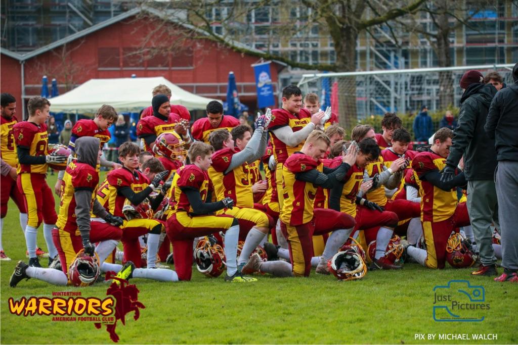 Beim US-Sports spiel der American Football U 19 zwischen dem Luzern Lions und dem Winterthur Warriors, on Sunday,  14. April 2019 auf der Allmend  in Luzern. (Just Pictures/Michael Walch)Bild-Id: WAM_56606