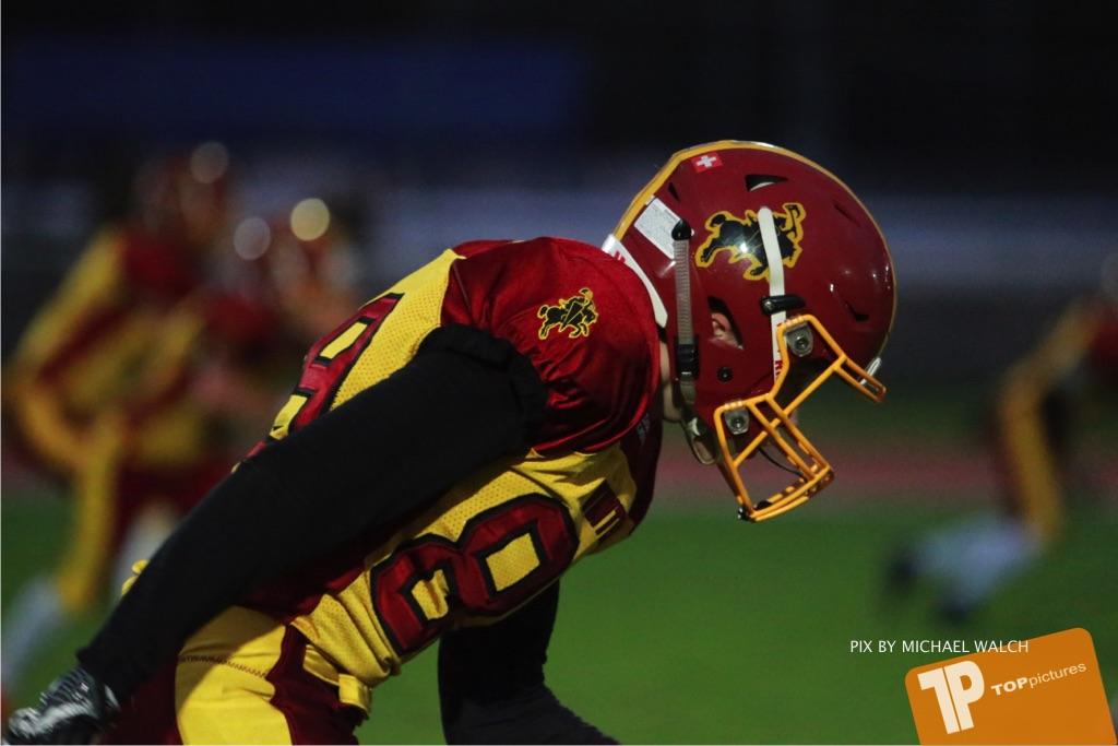 Beim US-Sports spiel der American Football - U16 zwischen dem Winterthur Warriors U16 und dem Calanda Broncos U16, on Saturday,  29. September 2018 im Sportanlage Deutweg in Winterthur . (TOPpictures/Michael Walch) Bild-Id: WAM_46196