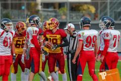 Beim US-Sports spiel der American Football - U16 zwischen dem Winterthur Warriors U16 und dem Calanda Broncos U16, on Saturday,  29. September 2018 im Sportanlage Deutweg in Winterthur . (TOPpictures/Michael Walch)  Bild-Id: WAM_46117