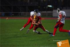 Beim US-Sports spiel der American Football - U16 zwischen dem Winterthur Warriors U16 und dem Calanda Broncos U16, on Saturday,  29. September 2018 im Sportanlage Deutweg in Winterthur . (TOPpictures/Michael Walch)  Bild-Id: WAM_46202
