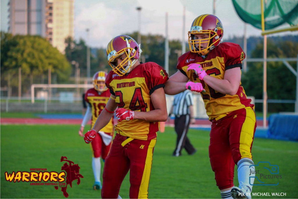 24 .08.2019, American Football, U-16 2018/2019, U-16 Winterthur Warriors vs SG Langenthal / Luzern,
