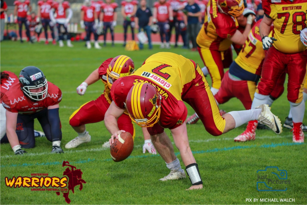 18.05.2019, American Football, Herren, 2018/2019, NLA, Winterthur Warriors vs Calanda Broncos ,  WARTMANN RICHARD #7 (Winterthur Warriors)
