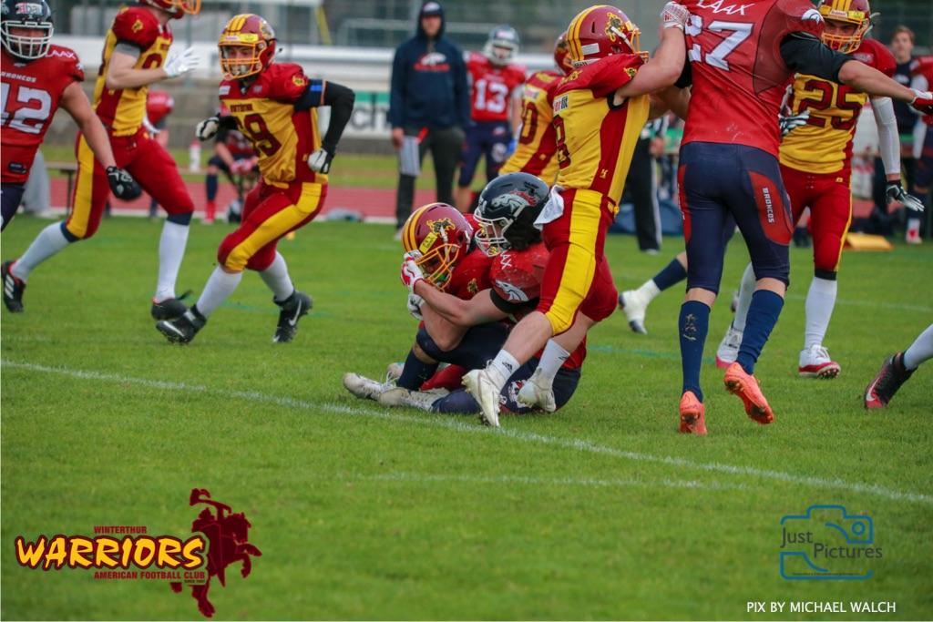 18.05.2019, American Football, Herren, 2018/2019, NLA, Winterthur Warriors vs Calanda Broncos ,