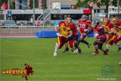 18.05.2019, American Football, Herren, 2018/2019, NLA, Winterthur Warriors vs Calanda Broncos , WARTMANN RICHARD #7 ( Winterthur Warriors)