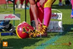 Beim US-Sports spiel der American Football NLA zwischen dem Winterthur Warriors und dem Bern Grizzlies, on Saturday,  02. June 2018 auf dem Sportplatz Deutweg in Winterthur. (TOPpictures/Michael Walch)  Bild-Id: WAM_43069