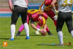 Beim US-Sports spiel der American Football U19 zwischen dem Winterthur Warriors  U19 und dem Bern Grizzlies, on Saturday,  02. June 2018 auf dem Sportplatz Deutweg in Winterthur. (TOPpictures/Michael Walch)  Bild-Id: WAM_42836