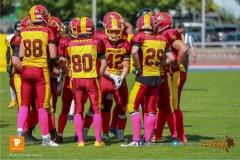 Beim US-Sports spiel der American Football U19 zwischen dem Winterthur Warriors  U19 und dem Bern Grizzlies, on Saturday,  02. June 2018 auf dem Sportplatz Deutweg in Winterthur. (TOPpictures/Michael Walch)  Bild-Id: WAM_42877