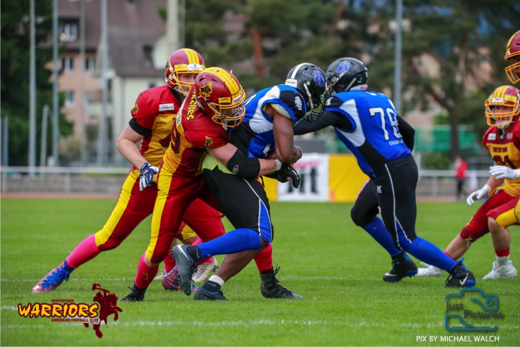 15.06.2019, American Football, Herren, 2018/2019, NLA, Winterthur Warriors vs Luzern Lions  ,