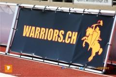 Beim US-Sports spiel der American Football - U19 zwischen dem Winterthur Warriors und dem Luzern Lions  U19, on Saturday,  21. April 2018 auf dem  Winterthurer Deutweg in Winterthur. (TOPpictures/Michael Walch)Bild-Id: WAM_36917