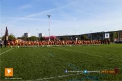 Beim US-Sports spiel der American Football - NLA zwischen dem Winterthur Warriors und dem Luzern Lions, on Saturday,  21. April 2018 auf dem  Winterthurer Deutweg in Winterthur. (TOPpictures/Michael Walch)Bild-Id: WAM_37170