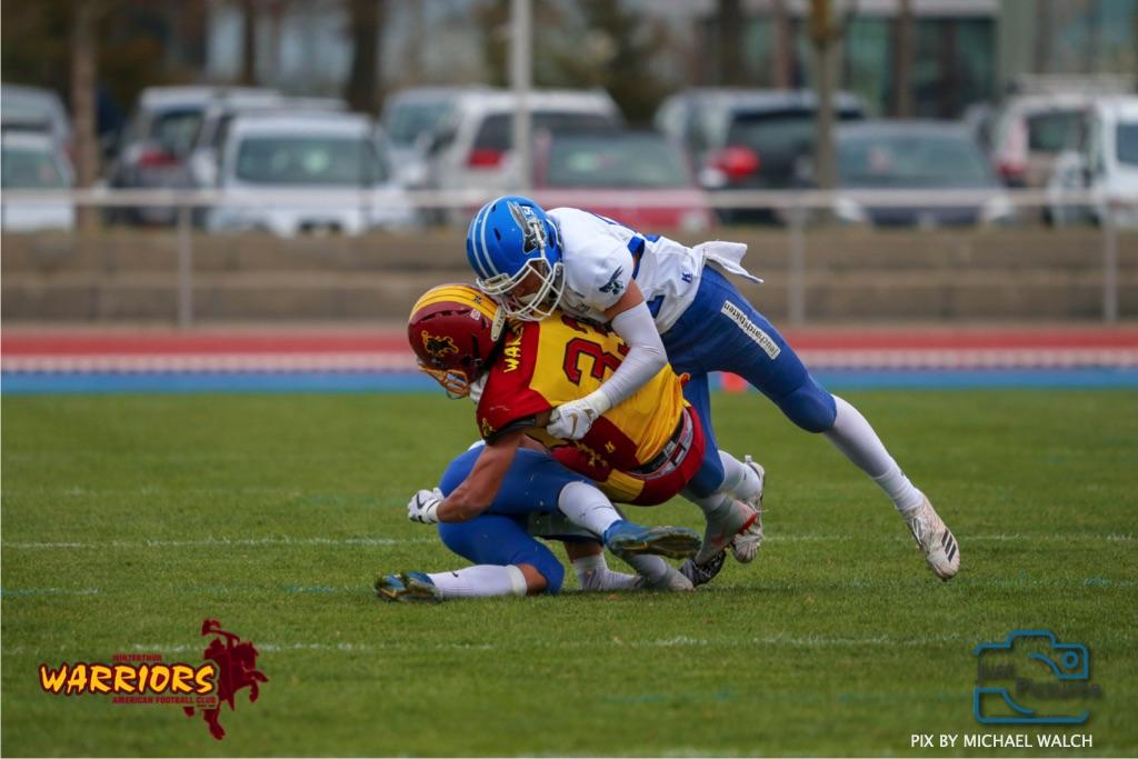 Beim US-Sports spiel der American Football -U19 zwischen dem Winterthur Warriors und dem Zurich Renegades, on Saturday,  06. April 2019 im Deutweg  in Winterthur. (Just Pictures/Michael Walch)Bild-Id: WAM_56056