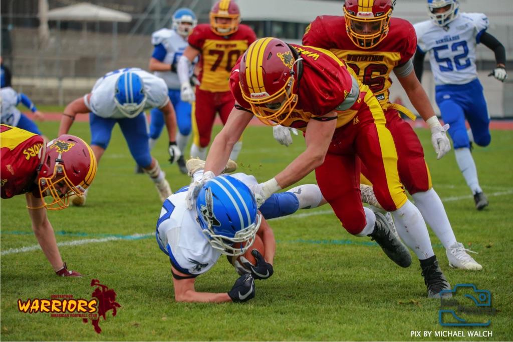 Beim US-Sports spiel der American Football -U19 zwischen dem Winterthur Warriors und dem Zurich Renegades, on Saturday,  06. April 2019 im Deutweg  in Winterthur. (Just Pictures/Michael Walch) Bild-Id: WAM_56080