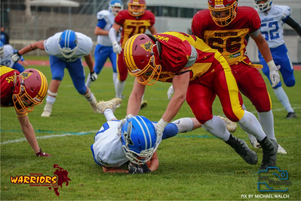 Beim US-Sports spiel der American Football -U19 zwischen dem Winterthur Warriors und dem Zurich Renegades, on Saturday,  06. April 2019 im Deutweg  in Winterthur. (Just Pictures/Michael Walch)Bild-Id: WAM_56081