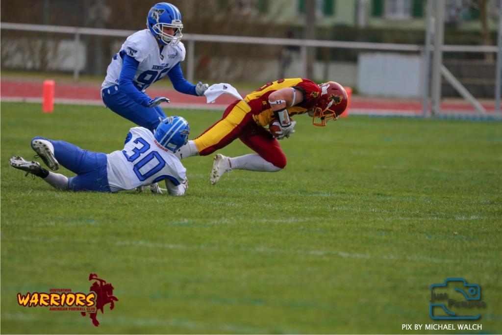 Beim US-Sports spiel der American Football -U19 zwischen dem Winterthur Warriors und dem Zurich Renegades, on Saturday,  06. April 2019 im Deutweg  in Winterthur. (Just Pictures/Michael Walch)Bild-Id: WAM_56133